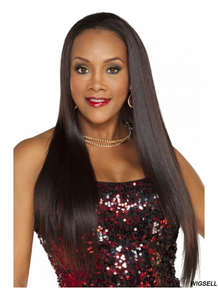 Straight Indian Remy Hair Brown Long New 3/4 Wigs