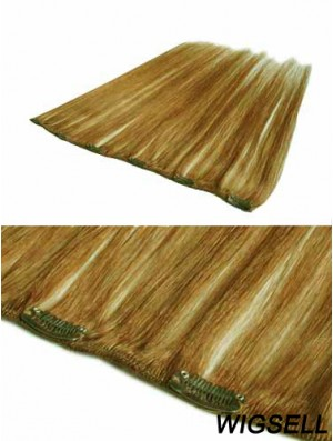 Discount Blonde Straight Remy Human Hair Clip In Hair Extensions