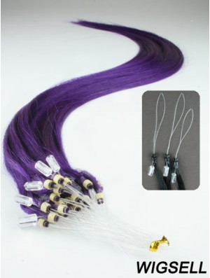 Natural Black Straight Micro Loop Ring Hair Extensions