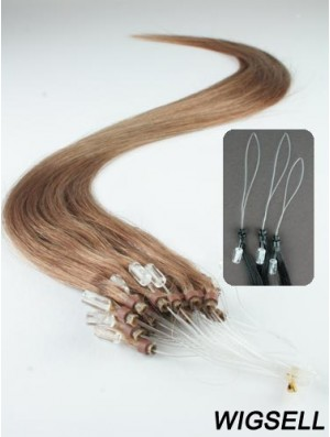Cheapest Brown Straight Micro Loop Ring Hair Extensions