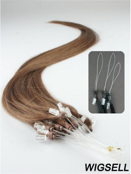 Style Brown Straight Micro Loop Ring Hair Extensions