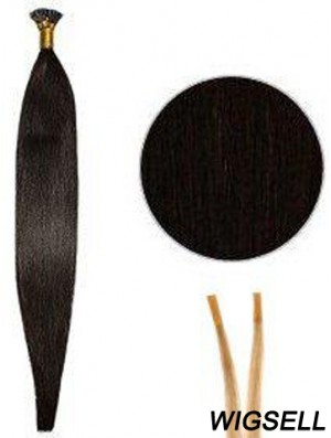 Black Straight Stick/I Tip Hair Extensions