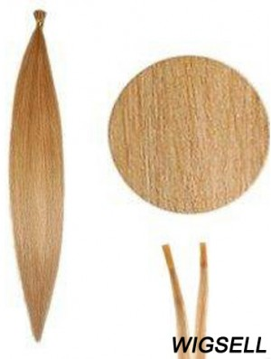 Blonde Straight Stick/I Tip Hair Extensions