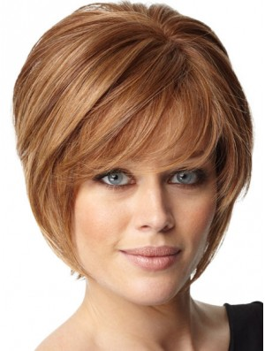 Auburn Remy Human Hair Bob Wig Short Capless Wig UK Online