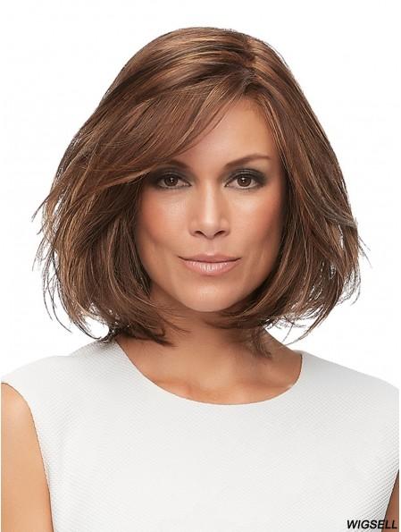 Brown Layered Straight 12 inch Remi Human Hair