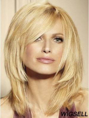 Blonde Lace Front Wigs UK Shoulder Length 16 Inch