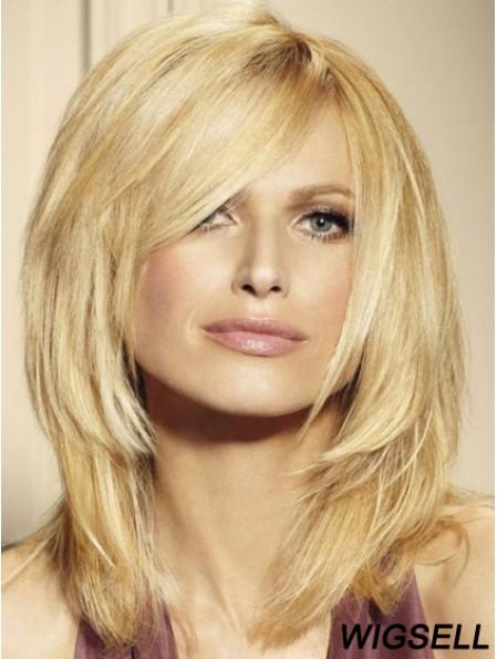 Blonde Lace Front Wigs UK Shoulder Length 16 Inch