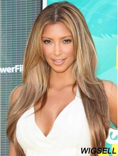 Monofilament Wigs Long Human Hair Best Kim Kardashian Wig UK