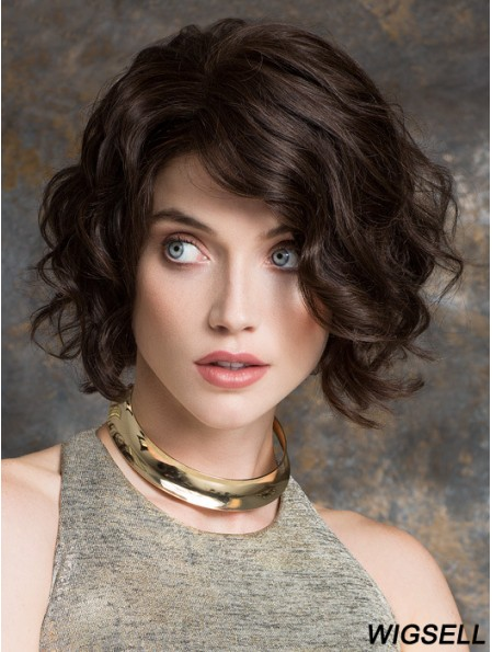 Black Bob Wig With Remy Human Chin Length 100% Hand Tied