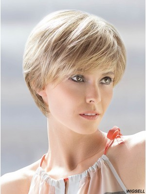 Blonde Short Wig Hand Tied Ellen Wille Silk Hi Wig UK 8 Inch