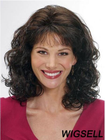 Women Wigs Human Hair Wigs With Bangs Shoulder Length