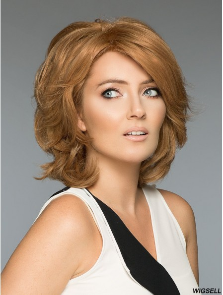 Blonde Layered Wavy 12 inch Real Human Wigs