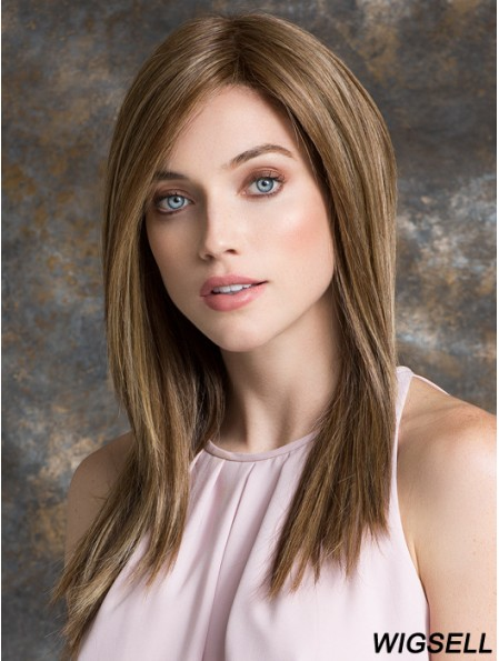 Long Straight Layered Brown Comfortable 100% Hand-tied Wigs