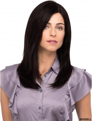 16 inch Long 100% Hand-tied Black Buying Human Hair