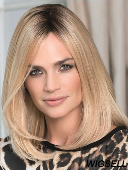 Blonde Lace Wig Online Real Hair Wigs Shoulder Length 14Inch