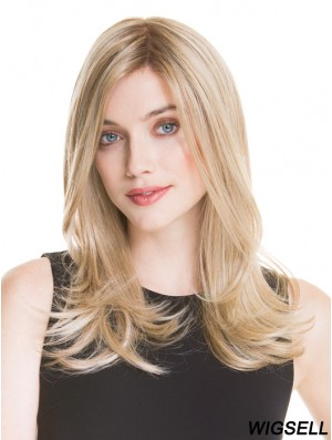 Monofilament Long Blonde Wig UK 100% Hand Tied Straight Style