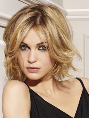 Monofilament Top Lace  Wig UK Chin Length Blonde Hair Wig Human Hair