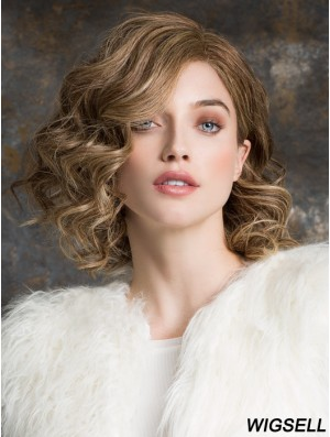 Long Bob Wig 100% Hand Tied Bobs Cut Remy Human Blonde Color