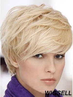 Short Straight Human Hair With Capless Short Length Boycuts