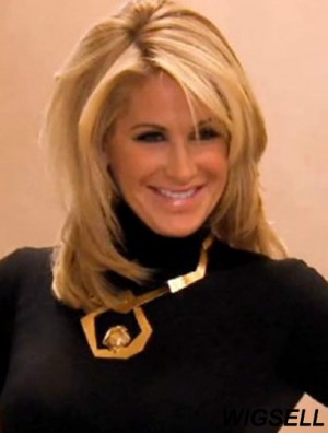 Lace Front Wig Blonde Shoulder Length Kim Zolciak Wig UK