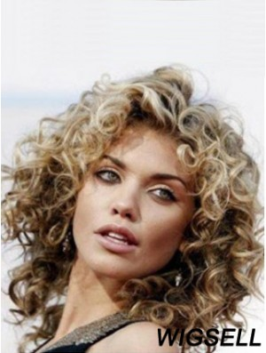 Curly Wig Human Hair Shoulder Length Wig With Lace Front