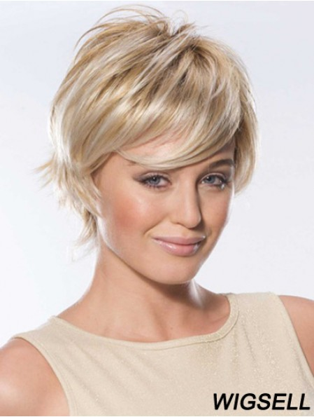 Lace Front Wig Straight Short Hair Wig With Remy Human Hair