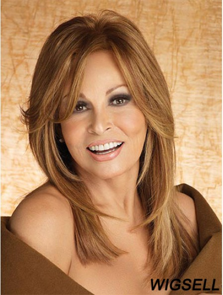 Smart Lace Monofilament Wig With Bang Wavy Long Raquel Welch Wig