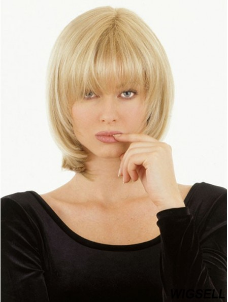 Monofilament Human Hair Topper UK Straight Style With Bangs