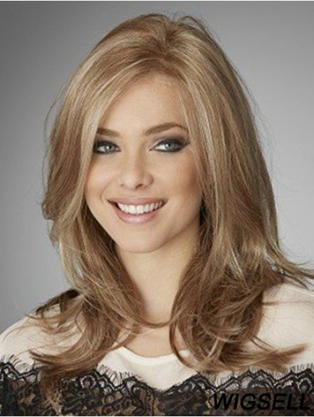 Blonde Wigs UK 18 Inch Real Hair Wigs Lace Front Cheap