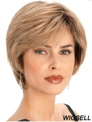 Short Blonde Bob Wigs Human Hair Straight Style
