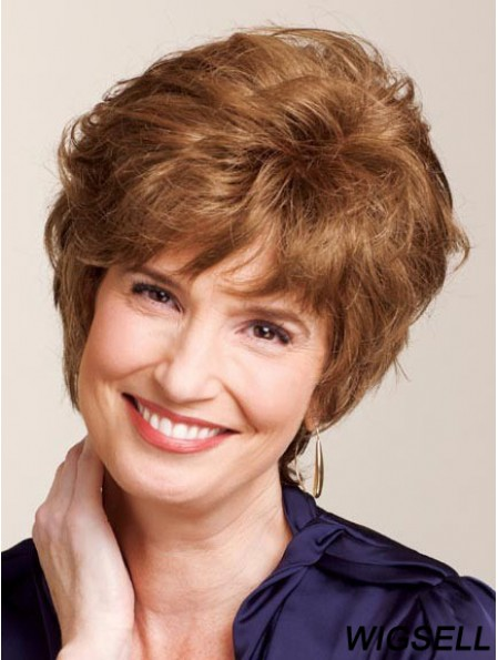 Ladies Wigs True With Capless Curly Style Auburn Color Classic Cut
