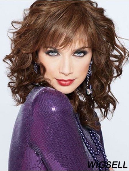 Classic Shag Layered Sides Human Hair Wig Lace Front