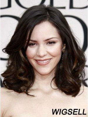 Katharine Mcphee Wigs With Lace Front Brown Color Shoulder Length