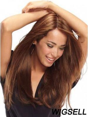 Human Hair Wigs Monofilament Cap Auburn Color 100% Hand Tied