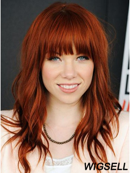 100 Percent Human Hair Lace Front Wigs With Bangs Lace Wavy Style