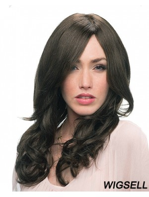 Curly Wigs Human Hair With Monofilament Black Color Layered Cut
