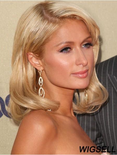Paris Hilton Celebrity Wigs Remy Human Shoulder Length Wavy Style