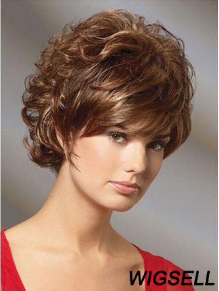 Curly Auburn Gorgeous Short Classic Wigs