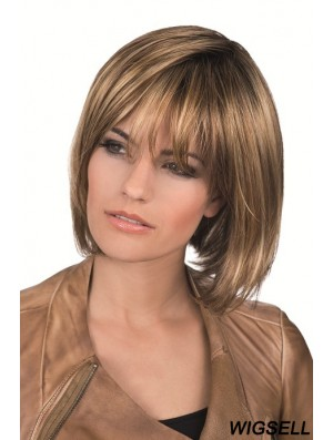 Chin Length Straight Lace Front Brown Best Bob Wigs