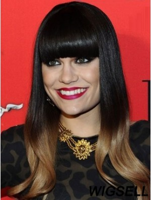 Jessie J Hair Ombre/2 Color With Bangs Monofilament Long Length