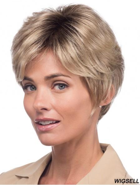 Monofilament Wigs Short Women Wigs Human Hair