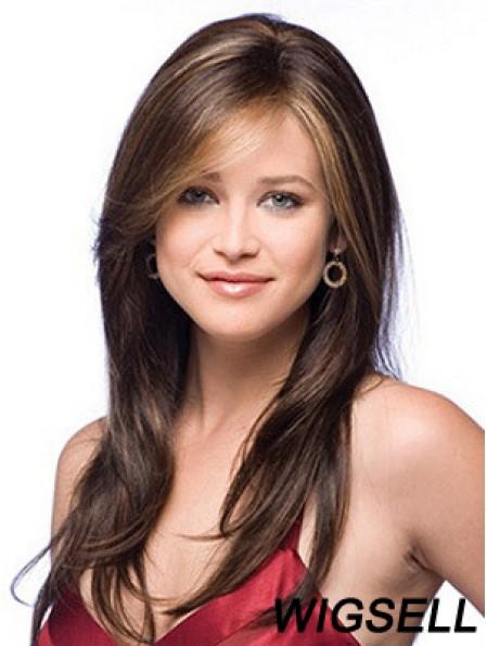 Human Hair Light Auburn Auburn Color Long Length Straight Style