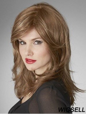Monofilament Wavy Layered Shoulder Length 16 inch Cheapest Human Hair Wigs