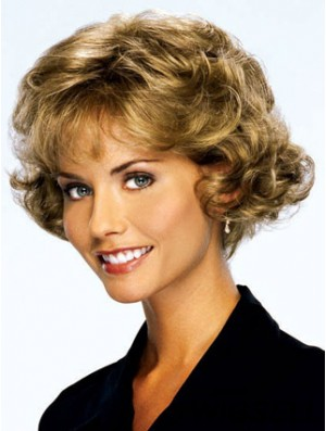 Blonde Curly Short Classic Lace Front Cheap Wigs UK Sale