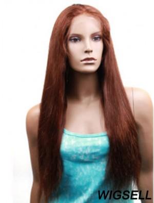 Yaki Straight Human Hair With Monofilament Yaki Style Long Length