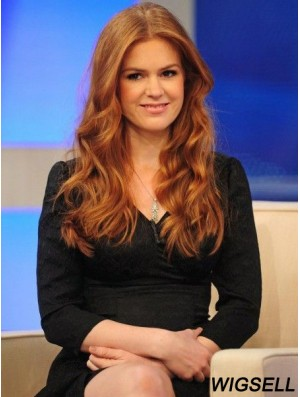 Long Wavy 100% Human Hair Full Lace Isla Fisher Wigs In UK