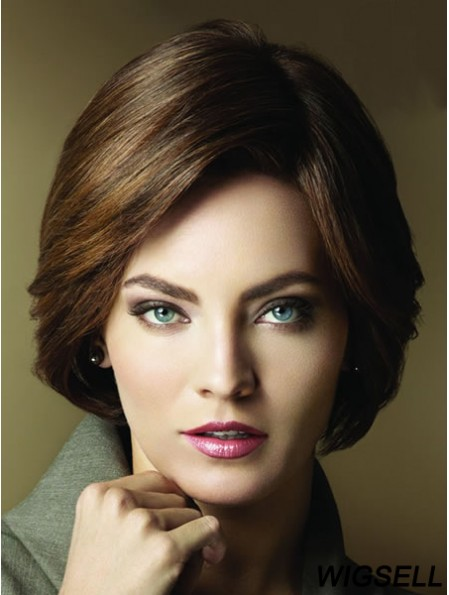 Layered Short Brown Straight Popular Petite Wigs