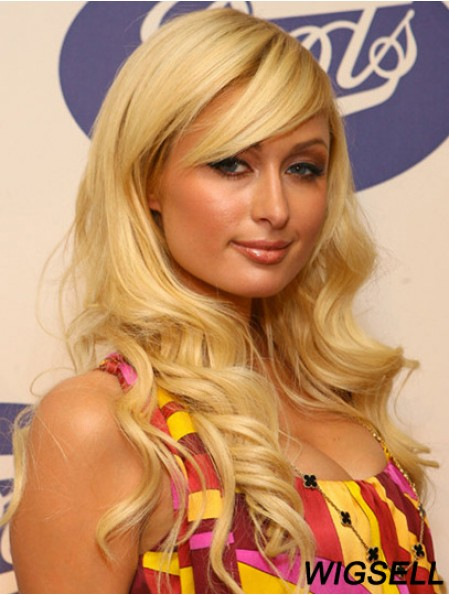 Lace Front Long Wavy With Bangs Blonde Discount Paris Hilton Wigs