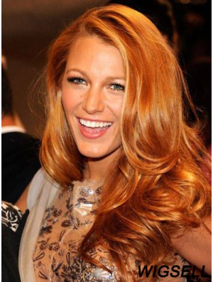 100% Human Hair Blake Lively Wigs Wavy Style Full Lace Cropped Color