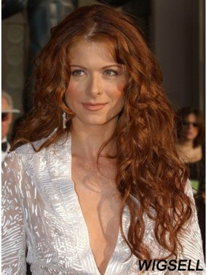 Without Bangs Long Copper Wavy 24 inch New Human Hair Debra Messing Wigs